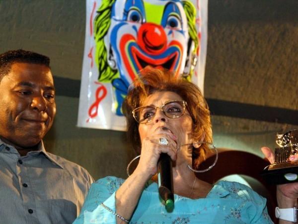 Marly Marley, ao lado de Netinho de Paula, em desfile da Banda Redonda no Carnaval São Paulo de 2010 (Foto: Ale Cabral/Futura Press)