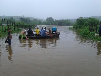 Cheia do Rio Jaguaribe em Saboeiro( Foto Blog Saboeiro existe)